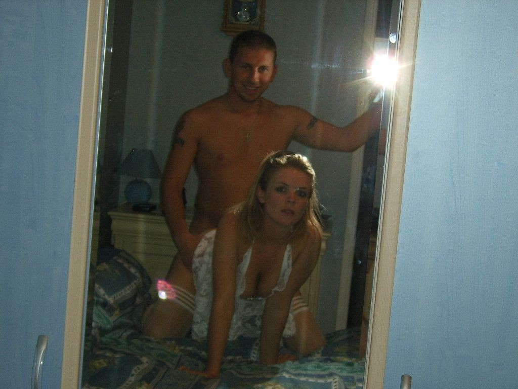 Doggie Style In Front Of Mirror